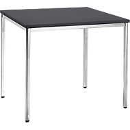 Konferenztisch, 800 x 800 mm, schwarz