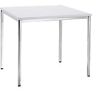 Konferenztisch, 800 x 800 mm, weiß