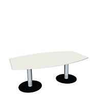 Konferenztisch, B 2000 mm, weiß