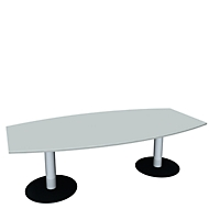 Konferenztisch, B 2400 mm, lichtgrau