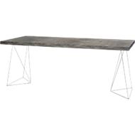 Konferenztisch Beton, Breite 2000 mm, Gestell Chrom
