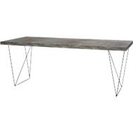Konferenztisch Beton, Breite 2000 mm, Gestell schwarz