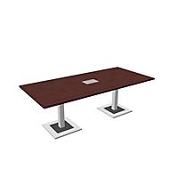 Konferenztisch Quandos inkl. Netbox, B 2200 x T 1000 mm, Ahorn-Brazil