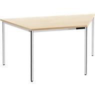 Konferenztisch, Trapez 1600 x 800 mm, Ahorn-Dekor