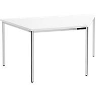 Konferenztisch, Trapez 1600 x 800 mm, weiß