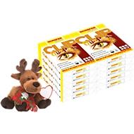 Kopieerpapier Schäfer Shop CLIP OutPut, A4, 80 g/m², zuiver wit, 1 doos = 10 x 500 vellen + eland knuffelbeest
