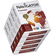 Kopierpapier Navigator Presentation, DIN A4, 100 g/m², hochweiß, 1 Karton = 5 x 500 Blatt