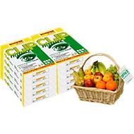 Kopierpapier Schäfer Shop CLIP nature, DIN A4, 75 g/m², reinweiß, 1 Karton = 20 x 500 Blatt + GRATIS Obstkorb (Gutschein)