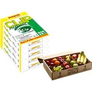 Kopierpapier Schäfer Shop CLIP nature, DIN A4, 75 g/m², reinweiß, 1 Karton = 40 x 500 Blatt + Obstkiste (Gutschein) GRATIS