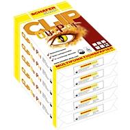 Kopierpapier Schäfer Shop CLIP OutPut, DIN A4, 80 g/m², reinweiß, 1 Karton = 5 x 500 Blatt