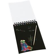Kratzblock Kratz Notizblock, 10 Blatt inkl. Holzstift, ideal für die kreative Pause