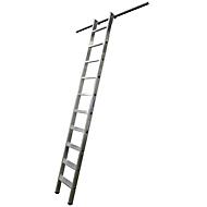 KRAUSE Regalleiter, Aluminium, mit 1 Paar Einhängehaken, 6 Stufen