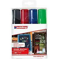 Kreidemarker edding 4090 4-15mm, 1xschwarz, 1xrot, 1xblau, 1xgrün