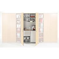 Küchenschrank, B 1200 x T 600/413 x H 2143 mm, Ahorn - Dekor