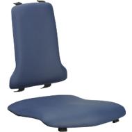 Kunstlederpolstergarnitur für Arbeitsdrehstuhl Sintec, blau