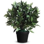 Kunstpflanzen PAPERFLOW, aus PE, grün, inkl. Kunststofftopf, Lorbeerbaum, 500 mm