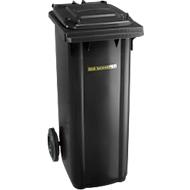 Kunststof afvalcontainer 140 l, antraciet