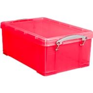 Kunststof box, 9 liter, transparant rood