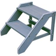 Kunststof trapje in bouwpakket, 2 treden