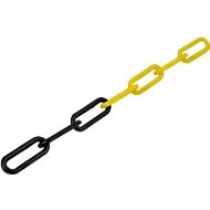 Kunststoff-Gliederkette, Ø 8 mm, gelb/schwarz, 50 m