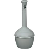 Kunststoff-Standascher, flammverlöschend, grau