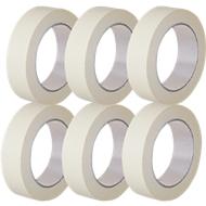 Kwaliteits afdektape van papier, B 50 mm, 6 rollen