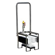 Laarzenreiniger ECO CEMO, B 33 x H x 82 x D 33 mm, met drie vaste borstels en bevestigingsbeugel, Gardena wateraansluiting