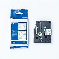 Labeltape TZe-R231 12 mm, wit/zwart