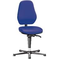 Labordrehstuhl Basic 9132, mit Gleitern, Kunstelder, Stamskin Top blau