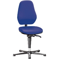 Labostoel Basic 9135, met glijders, kunstleer, Stamskin Top blauw