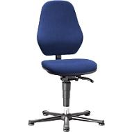 Labostoel Basic 9135, met glijders, stoffen bekleding, Duotec blauw