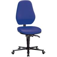 Labostoel Basic, met wielen, kunstleer, Stamskin Top blauw