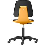 LABSIT Labordrehstuhl, o. Armlehne, mit Rollen, Rückenlehnenhöhe 420 mm, Kunstleder, orange