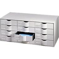 Ladebox, 12 schuifladen, polystyreen