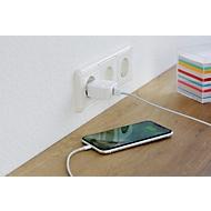 Ladegerät Nestler-matho QC 3.0 Wall Charger, f. Mobilgeräte, Quick-Charge, ABS, weiß, inkl. einfarbige Werbeanbringung