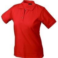 Ladies's Poloshirt, rot Gr. L