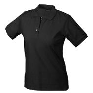 Ladies's Poloshirt, schwarz Gr. M
