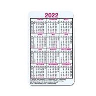 Laminierter Kalender, Scheckkartenformat, B 52 x H 86 mm, Werbedruck 46 x 76 mm, Auswahl Werbeanbringung erforderlich