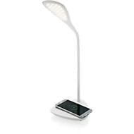 Lampe de bureau, blanc, 40 LED, 3 modes d'éclairage, chargeur sans fil 5W