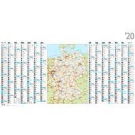 Landkartenkalender, deutsch