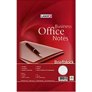 Landré briefblok Office A4 geruit, 50 vellen, 10 stuks