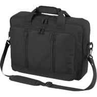 Laptop-Rucksack Economy, aus Mini Ripstop, als Umhängetasche oder Rucksack nutzbar, schwarz