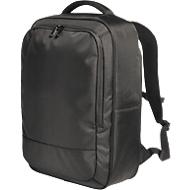 Laptop Rucksack GIANT, für 15 Zoll Notebooks, RFID-Schutz, gepolstert, schwarz, Werbedruck 200 x 200 mm