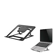 Laptop Ständer NewStar NSLS085BLACK, für Laptops 10-17″ & bis 5 kg, 6-stufig manuell höhenverstellbar, zusammenklappbar, schwarz
