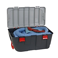 Leckage Notfallset ölbindend blau, 100 l Aufnahme, 77 Teile, in fahrbarem Koffer