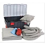 Leckage Notfallset universell grau, 100 l Aufnahme, 77 Teile, in fahrbarem Koffer