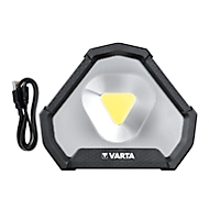 LED Arbeitsleuchte Varta Work Flex Stadium Light, bis 1450 lm, bis 45 m, bis 15 h, 3 Lichtstufen, verstellbarer Standfuß, IP54, Akkubetrieb, Ladekabel