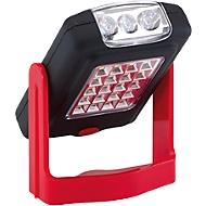 LED Arbeitsleuchte WORKSHOP, Taschenlampe, Magnet, Standbügel  & Klapphaken, Werbedruck 25 x 5 mm