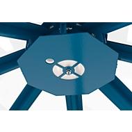 LED-Beleuchtung für Achteck-Raucherpavillon Modell Paris, Lichtfarbe neutralweiß, 11 W, IP65, Platte enzianblau RAL 5010