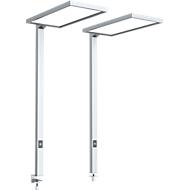 LED Lampe LAVA, dimmbar, für Bildschirmarbeitsplatz, 4000 K, als Tischlampe, silbern